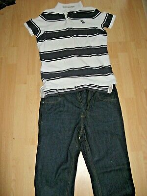 Worn Once Boys Next Classic Blue Jeans & Abercrombie & Fitch Polo Bundle Age 15