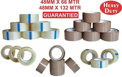 72 X Brown / Clear Sellotape Packing Tape Parcel Tape Packaging Tape Heavy Duty