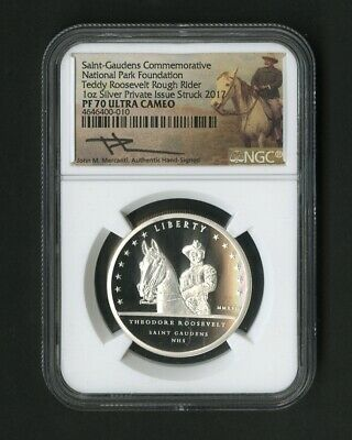 US Coin 2017 Saint-Gaudens Teddy Roosevelt Mercanti NGC Proof 70 UC NO RESERVE!