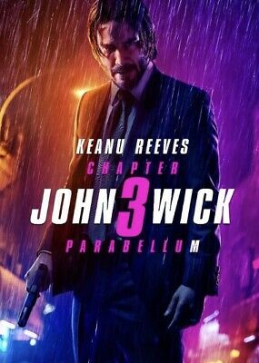 John Wick: Chapter 3 Parabellum Blu Disc Only With Slim CD Hard Case Brand New