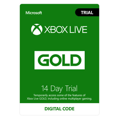 XBOX One / 360 Live Gold 14 Days Trial Gold Membership Code works worldwide