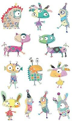 5 Sheets Mrs Grossman`s MARVELOUS MONSTERS  Stickers 2014