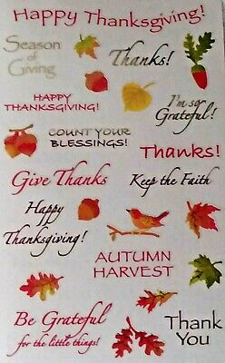5 Sheets Mrs Grossman`s THANKSGIVING CAPTIONS Reflections Stickers 2009
