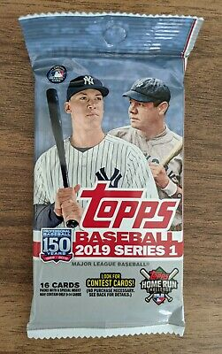 2019 TOPPS Series 1 BASEBALL MLB Retail PACK (x1) - 16 Cards!!! New and Sealed