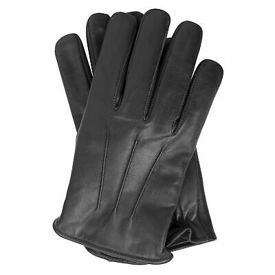 Mens Leather Warm Soft Driving Fleece lined winter Gloves
