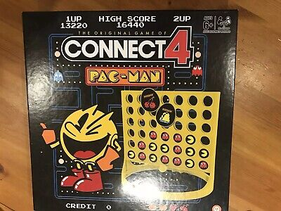 Winning Moves PAC-MAN CONNECT 4 Hasbro Gaming Game Complete retro classic arcade