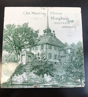 Antique Mintons China Works Stoke On Trent Tile 6 X 6 The Old Meeting House
