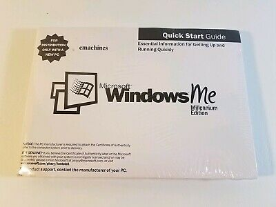 Microsoft Windows Me Millennium edition Emachines Restore CDs And Manual