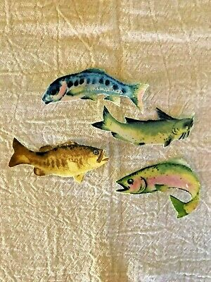 Fish - 4 - Iron-On Fabric Appliques - Small