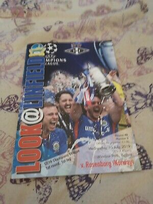 Linfield V Rosenborg Champions League.wed 10Th July 2019.Mint.