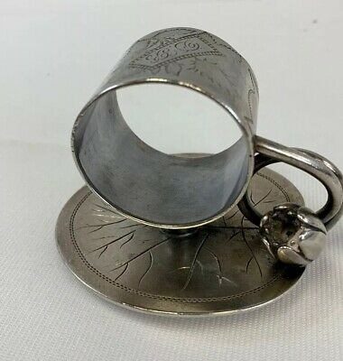 Beautiful signed Simpson Hall Miller Napkin ring...antique