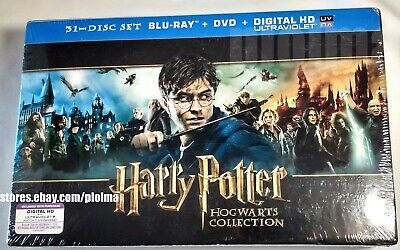 HARRY POTTER HOGWARTS COLLECTION Brand New 31-disc Blu-Ray DVD Complete 8 Movies