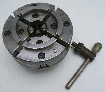 4 Jaws self centering Lathe Chuck 100mm with Key - Axminster Tools - Unused