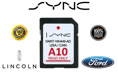 A10 Map Ford Lincoln Latest Navigation Sd Card Gps  2019 2018 Sync Update A9 A8