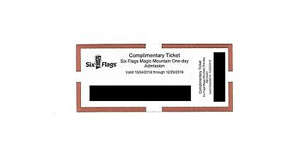 One Six Flags Magic Mountain in Valencia, California One Day Ticket 2019