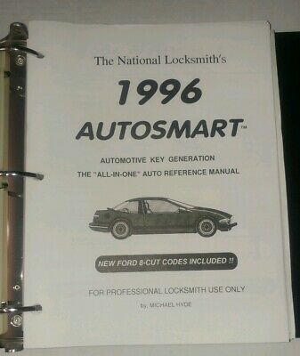 Locksmiths 1996 Autosmart Automotive Key Generation All In One Reference Manual