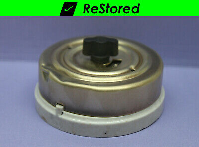 Vintage Rotary Switch Double-Pole, DPST Porcelain/Brass with Fuses - 250V - H&H