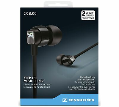 Sennheiser CX 3.00 In-Ear Canal Headphones Black New 100% Genuine Sealed