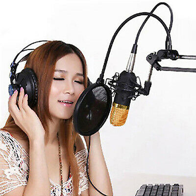 AU_ BM 800 Condenser Pro Audio Microphone Sound Studio Dynamic Mic + Shock Mount
