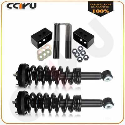 """New 2"""" Rear Leveling kit&2 Front Complete Struts for 2009-2012 Ford F150"""