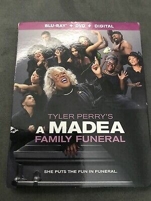 2019 Tyler Perry Madea Family Funeral  Blu-Ray + Digital + Dvd + Slipcover - New