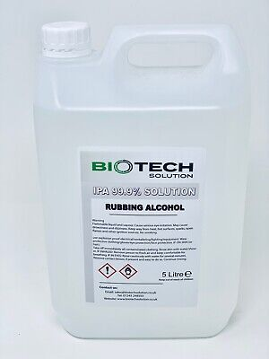Ipa 99.9% 2 x 5 Litre Frottant Alcool Isopropyl / Isopropylique 10L