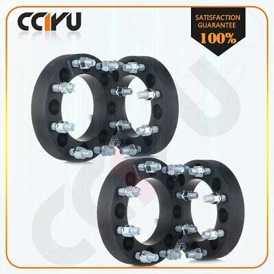 """4Pc 1.5"""" 8x6.5 to 8x180 Adapter Wheel Spacers for 1999-2004 Chevy Silverado 2500"""