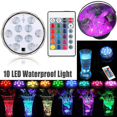 LED RGB Underwater Light Remote Control Waterproof For Swimming Pool Tub Spa
