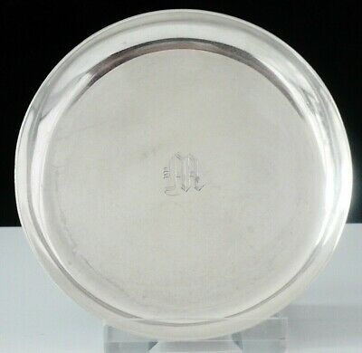 Sterling Silver Pin Dish Tray c.1920's, Engraved with Letter M