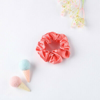 Hair Accessories Colorful Pure Mulberry Silk Scrunchie Elastic Stitch Charmeuse
