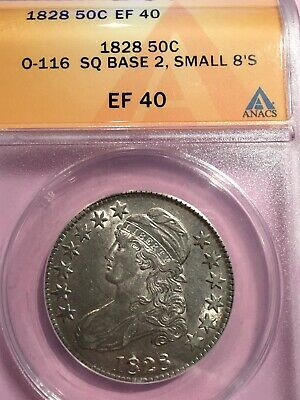 1828 EF40 Capped Bust Half-ANACS Certified O-116.  PQ++ Original Luster