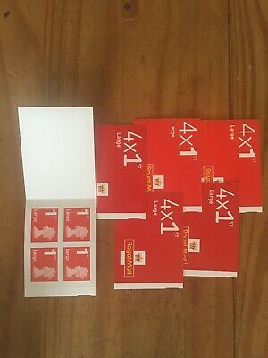 6 Books of 4 First Class Large Letter Royal Mail stamps new