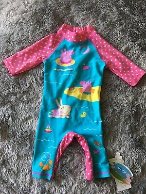 Mothercare Pepper Pig Sunsafe Suit Aged 3-6 Months