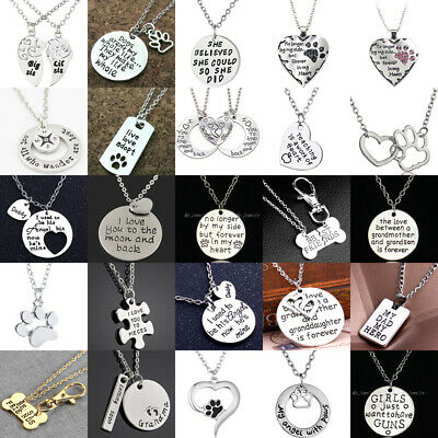 Personalised Pendant Necklace Mom Sister Heart Chain Necklace Family Best Friend
