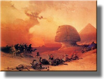 A Storm in the Desert Painting Picture by Roberts on Acrylic , Wall Art Décor, R