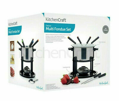 New Kitchen Craft Deluxe Multi Fondue Set FOR SIX PEOPLE,  2 x Bowls *NEW*