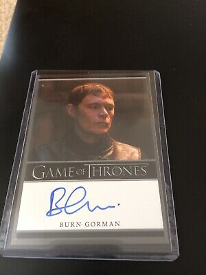 Game Of Thrones Season 4, Burn Gorman Autograph Card, Karl Tanner Auto.