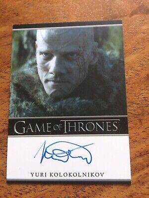 Game of Thrones Season 4 Yuri Kolokolnikov Autograph Card, Styr Auto