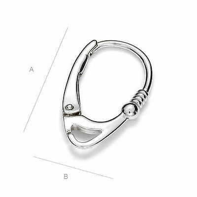S3s3 Sterling silver 925 quality leverback earring hook for many type crystals