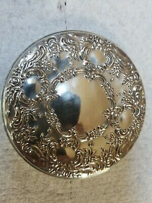 Vintage TOWLE Sterling Silver Ornate Repousse Hand Pocket Mirror 3""