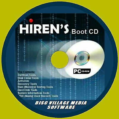Hirens Boot Utility Pc Cd Virus Malware Cleaners Mbr Tool Test Recover Diagnose