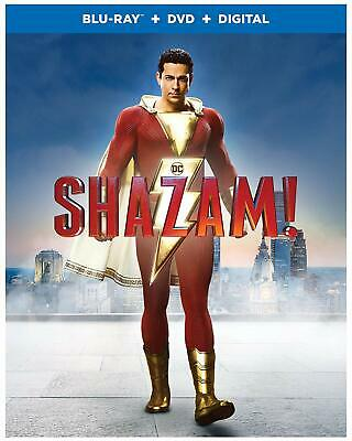 Shazam  ** Blu-ray & DVD ** excellent ** includes slipcover and digital