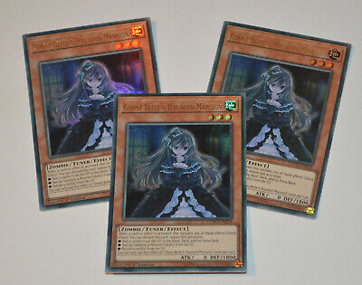YUGIOH DUEL POWER TCG // 3x DUPO-EN078 Ghost Belle & Haunted Mansion ULTRA RARE