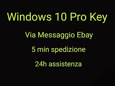 ✓WINDOWS 10 Professional PRO Key 32/64 Bit Licenza Retail Esd