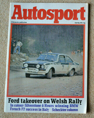 Autosport 13th May 1976 Jabouille wins Vallelunga F2, Silverstone 6hrs, BMW 3.3L