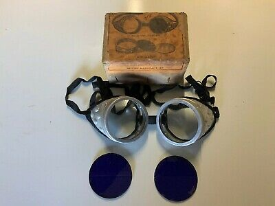Antique / Vintage old welding safety glasses goggles Steam Punk interest
