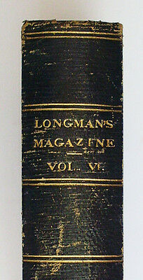 Longman's Magazine Vol 6 1885 ~ Prince Otto Robert Louis Stevenson First Edition