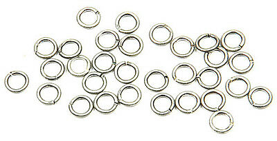 (20) Antique Sterling Silver Plated Open Jump Ring 4mm Diameter 21 Gauge