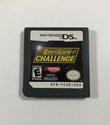 Retro Game Challenge (Nintendo DS, 2009) Authentic, Tested - Fast Free Shipping
