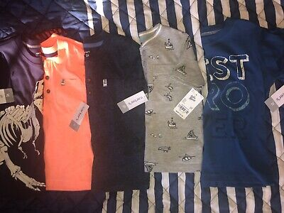 ALL 5 TEE SHIRTS ARE NEW WITH TAGS- 5 Short Sleeve Toddler Boys size 2T